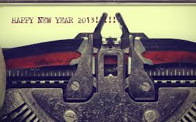 Happy 2013 typewriter